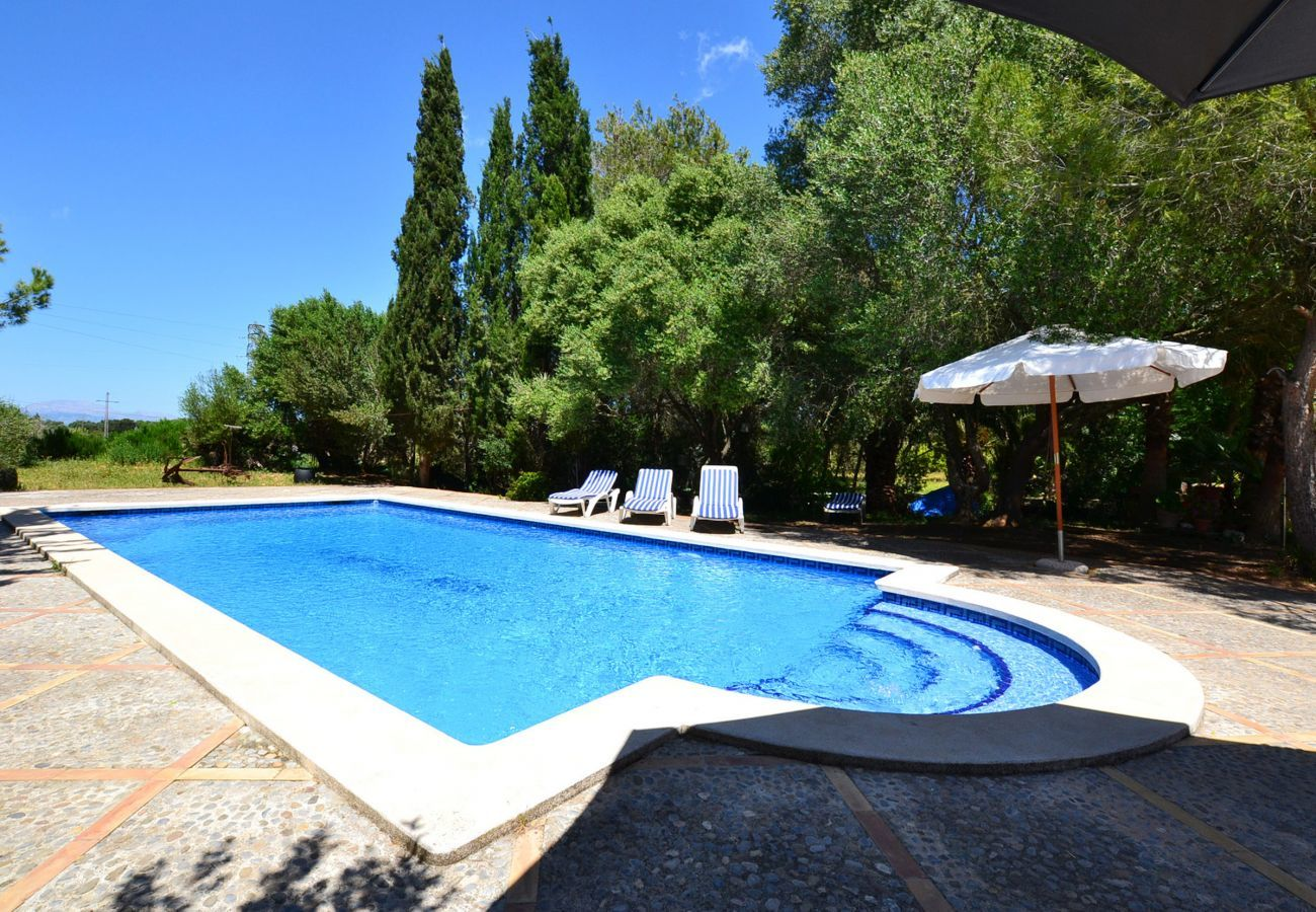 5 double bedrooms, 3 bathrooms, Wifi-Internet, air conditioning, Nice garden with pool and barbecue.